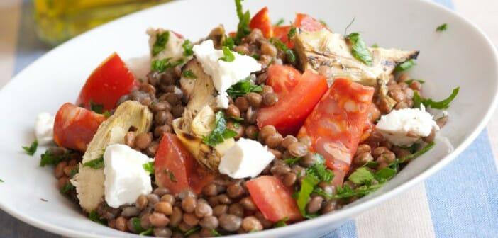 Salade de lentilles et haricots