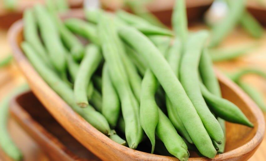 Le régime à base de haricot vert