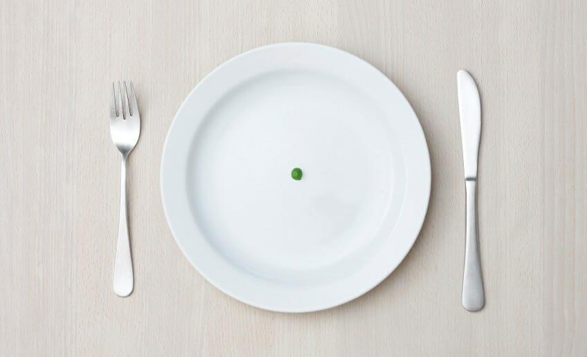 Les portions de nourriture pour perdre du poids