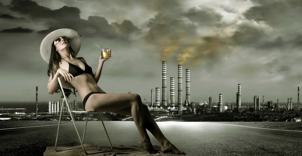 La pollution fait grossir