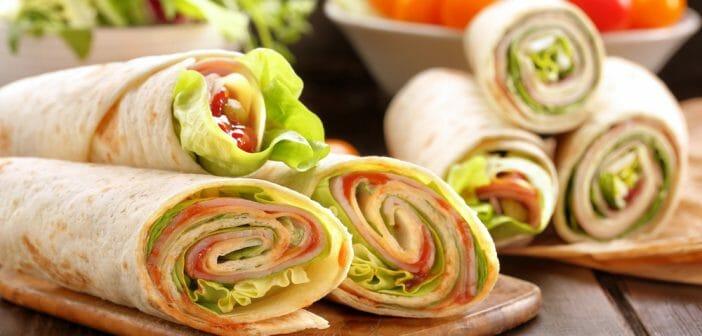 Le mini wrap v g tarien un repas l ger facile et for Repas facile et original