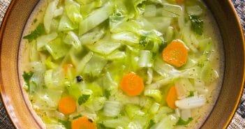La soupe au chou pendant un régime, bonne idée