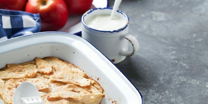 Recette de clafoutis light aux pommes et fromage blanc