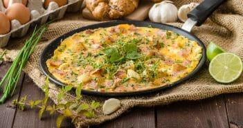 L'omelette au jambon dans un régime, une bonne idée