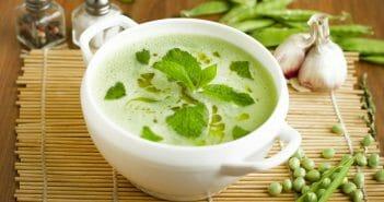 La soupe de petit pois est-elle idéale pendant un régime