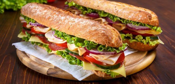 Quel sandwich est le moins calorique à la boulangerie