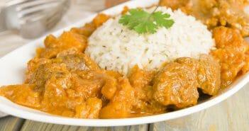Combien de calories dans le curry d'agneau ?