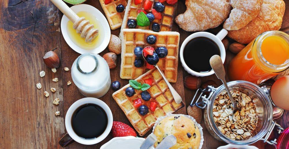 Exemples de menus de petit-déjeuner du regime sans residu