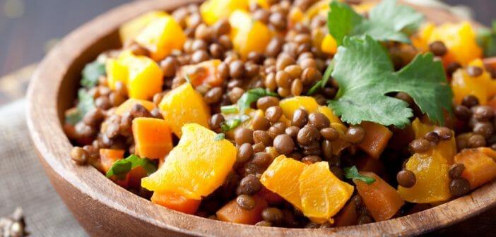Menu du régime protéiné végétarien