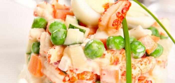 Combien de calories dans la salade russe ?