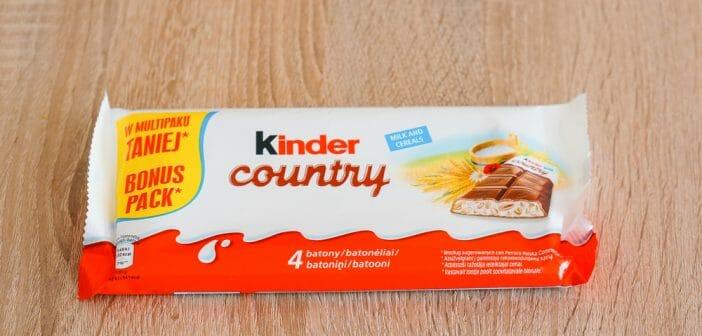Le Kinder Country, un en-cas healthy