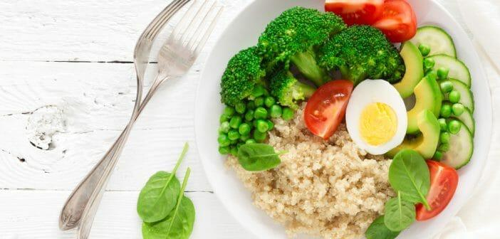 Menu végétarien sans gluten et sans lactose