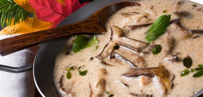 sauce aux champignons de paris frais à la creme