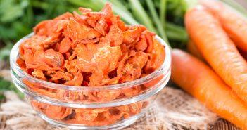 Recette de chips de carottes au four