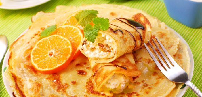 Recette de crêpe à l'orange légère