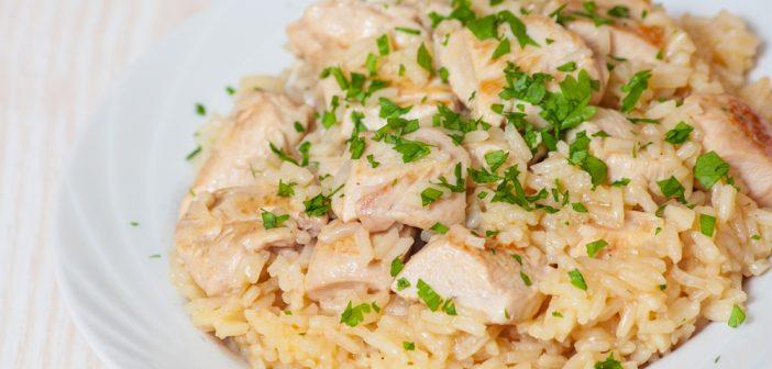 Recette de risotto poulet